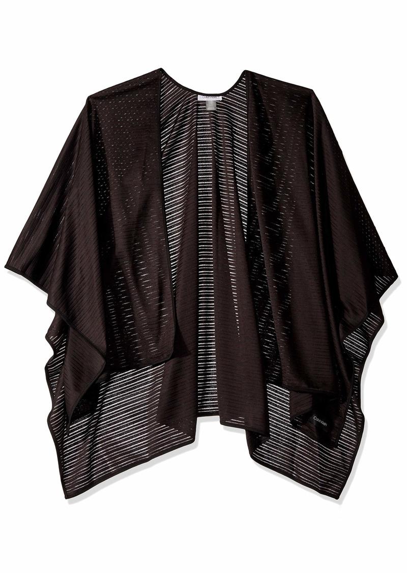 Calvin Klein Women's Evening Jersey Shawl Wrap black