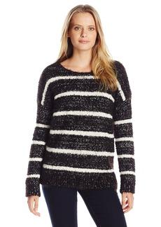 Calvin Klein Women's Eyelash Striped Sweater