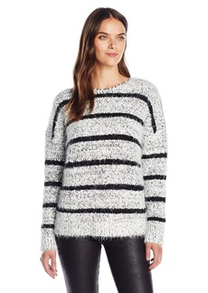 Calvin Klein Women's Eyelash Striped Sweater
