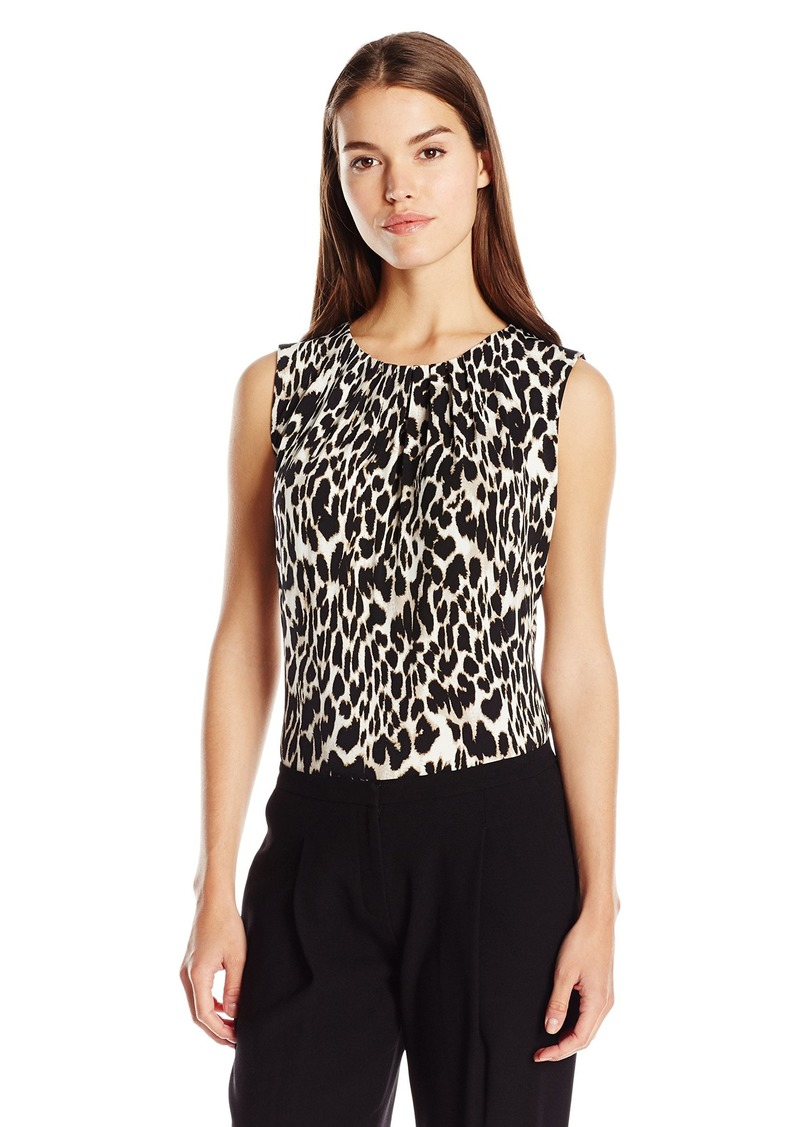 Calvin Klein Women's Fashion Printed Knit Top  M
