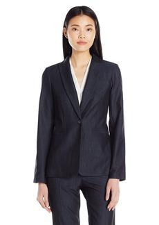 Calvin Klein Women's Faux Denim 1 Button Jacket
