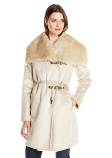 Calvin Klein Women's Faux Fur Shearling Coat