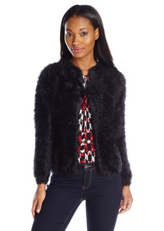 Calvin Klein Women's Faux Fur Sweater Knit Black
