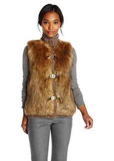 Calvin Klein Women's Faux Fur Sweater Vest  X-Small