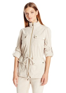 Calvin Klein Women's Faux Suede Camp Jacket