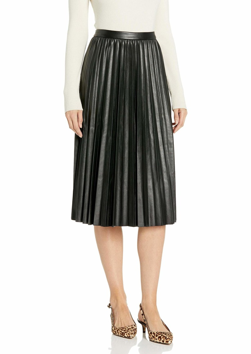 Calvin Klein Women's Faux WRAP Pencil Skirt aubergine