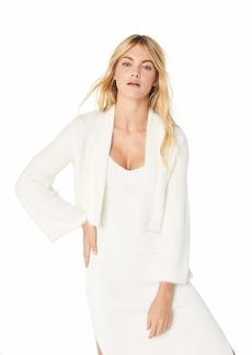 Calvin Klein Women's Feather Yarn Shrug with Wide Sleeve
