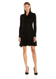 Calvin Klein Women's Fit and Flare Cowl Neck Sweater Dress  S