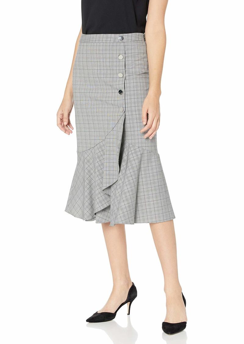 Calvin Klein Women's Flare Hem Skirt with Buttons
