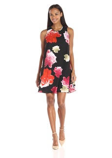 Calvin Klein Women's Flared Floral Dress