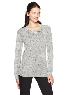 Calvin Klein Women's Flecked Lace up Sweater  L