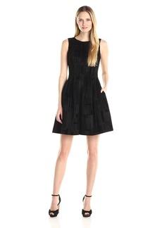Calvin Klein Women's Flocked Flare Dress