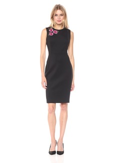 Calvin Klein Women's Floral Applique Sheath Dress