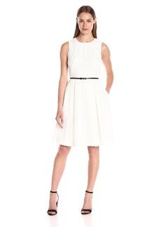 Calvin Klein Women's Floral Lace Fit&Flare Dress