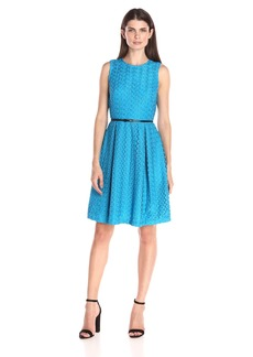 Calvin Klein Women's Floral Lace Fit&Flare Dress