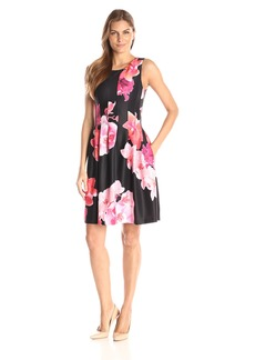 Calvin Klein Women's Floral Print Fit and Flare