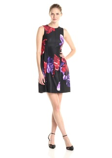 Calvin Klein Women's Floral Print Fit and Flare Dress