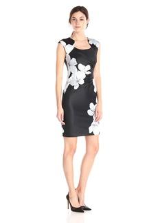 Calvin Klein Women's Floral Print Side Ruched Dress