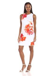 Calvin Klein Women's Sleeveless Trapeze Dress