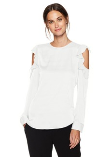 Calvin Klein Women's Flutter Cold Shoulder Top  S