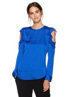 Calvin Klein Women's Flutter Cold Shoulder Top  XS