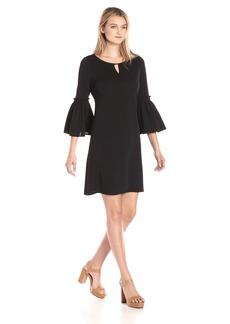 Calvin Klein Women's Flutter Sleeve Dress With Hardware  S