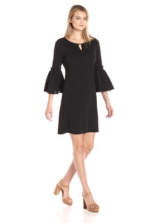 Calvin Klein Women's Flutter Sleeve Dress with Hardware  XS