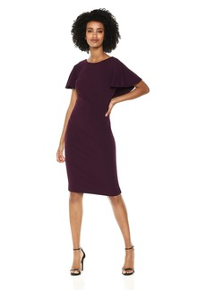 Calvin Klein Women's Flutter Sleeves Sheath Dress