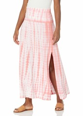Calvin Klein Women's Foldover Waist Tie Dye Maxi Skirt