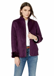 Calvin Klein Women's Fur and Suede Reversible Jacket  M