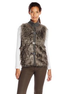 Calvin Klein Women's Faux Fur Sweater Vest