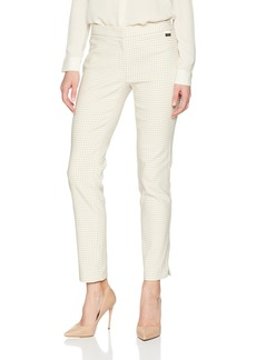 Calvin Klein Women's Gingham LUX Pant Latte/TRU White