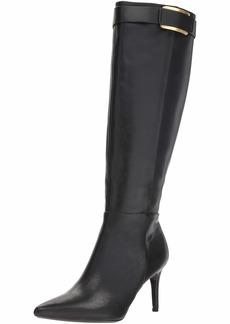 Calvin Klein Women's Glydia Knee High Boot Black Leather WC