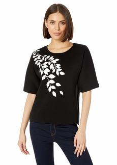 Calvin Klein Women's Graphic Short Sleeve Sweater