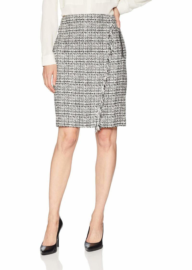 Calvin Klein Women's Graphic Tweed Pencil Skirt