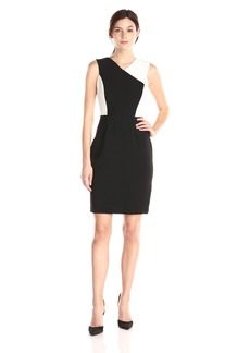 Calvin Klein Women's Halter Color-Block Sheath Dress