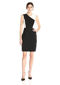 Calvin Klein Women's Halter Color Block Sheath Dress