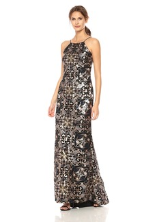 Calvin Klein Women's Halter Embellished Long Dress