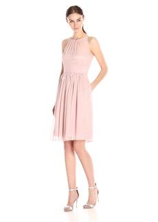 Calvin Klein Women's Halter-Neck Chiffon Dress
