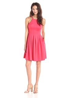 Calvin Klein Women's Halter Neck Fit and Flare Dress