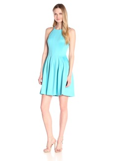 Calvin Klein Women's Halter-Neck Fit-And-Flare Dress
