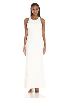 Calvin Klein Women's Halter Neck Lace Gown