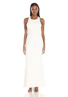 Calvin Klein Women's Halter Neck Lace Gown