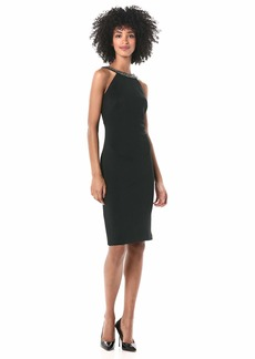 Calvin Klein Women's Halter Neck Sheath with U-Back Dress