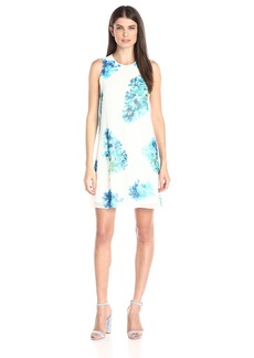 Calvin Klein Women's Halterneck Printed Chiffon Dress