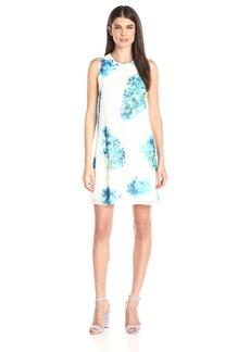 Calvin Klein Women's Halterneck Printed Chiffon Dress