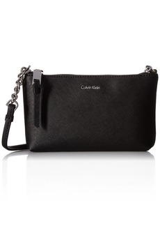 Calvin Klein Women's Hayden Saffiano Leather Crossbody Cross Body Handbag