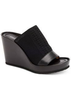Calvin Klein Women's Hazel Slip-On Platform Wedge Sandals Women's Shoes