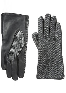 Calvin Klein Women's Herringbone Zipper Glove