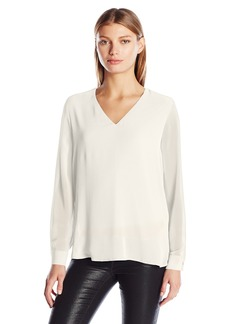 Calvin Klein Women's High-Low V-Neck Top  XL